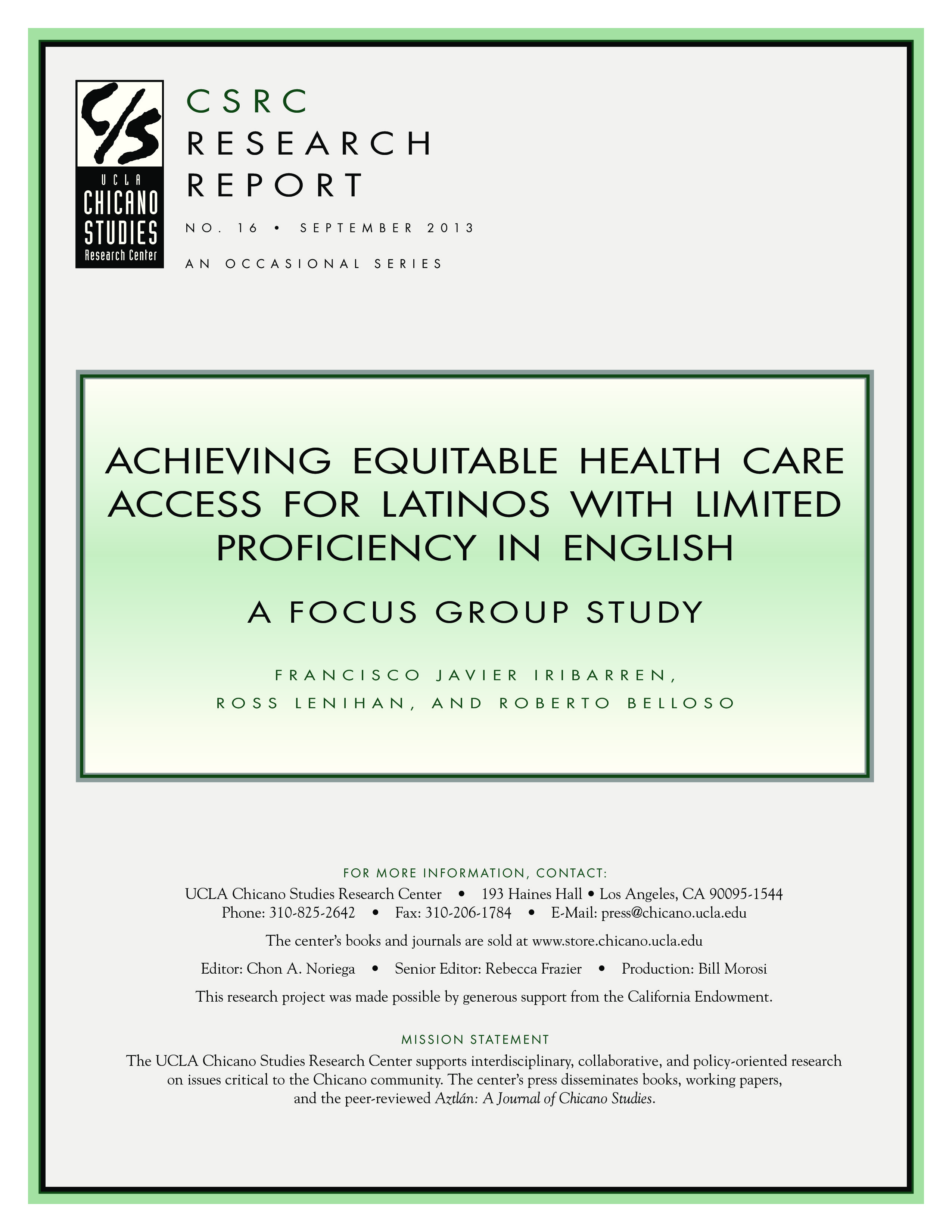 Achieving Equitable Health Care Access for Latinos with